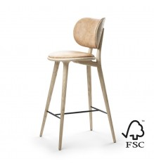 Mater - Chaise de bar Highstool Backrest (éco-responsable)
