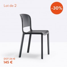 Pedrali Dome 260 noir (lot de 2)