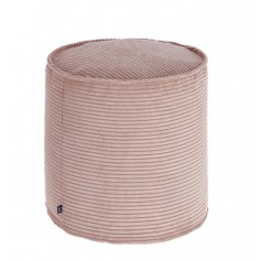 Zin - Pouf velours rose